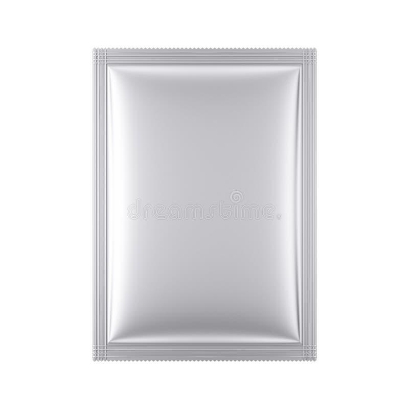 铝空白的袋子包裹大模型 3d翻译 库存例证