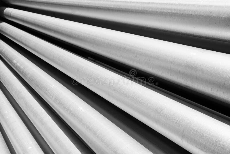 铝管作为原材料 库存照片