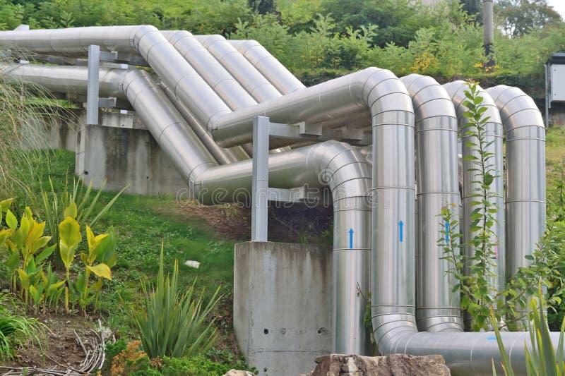 铝管供水系统  免版税库存图片
