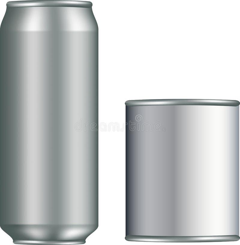 铝罐倒空 向量例证