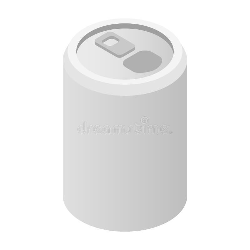铝罐等量3d象 库存例证