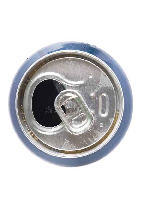 铝罐露天视图 库存照片
