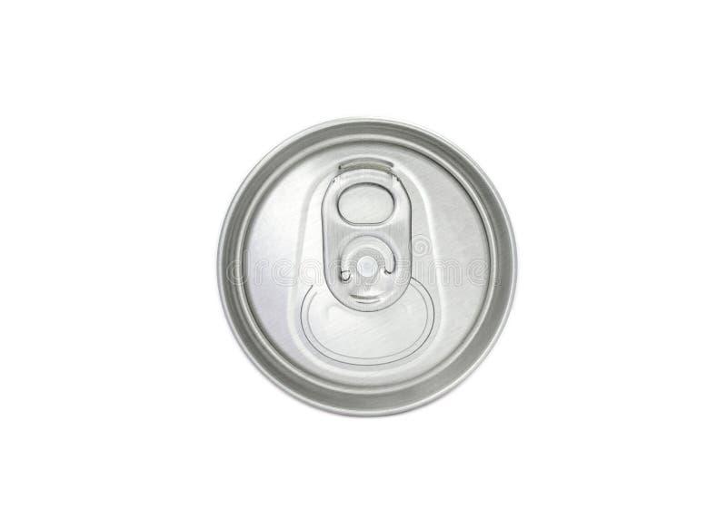 铝罐顶视图 库存照片
