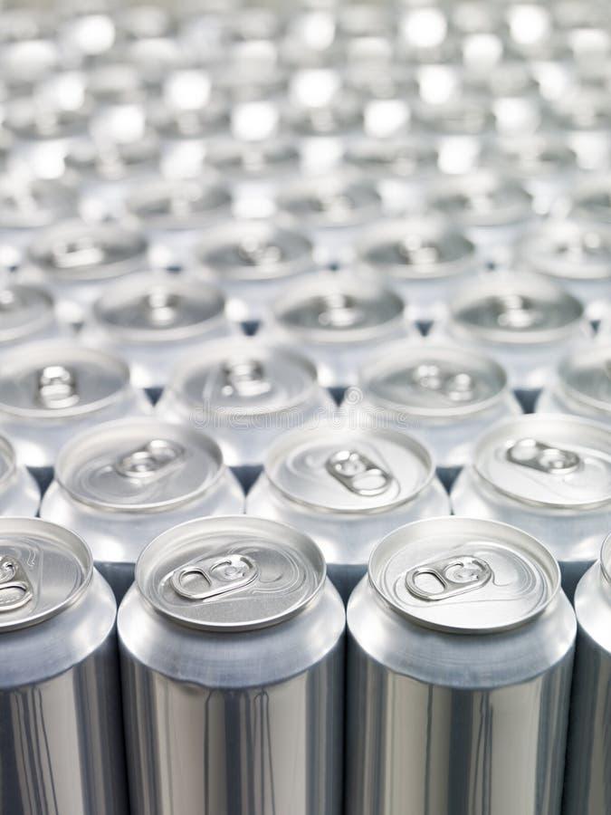 铝罐 免版税库存照片