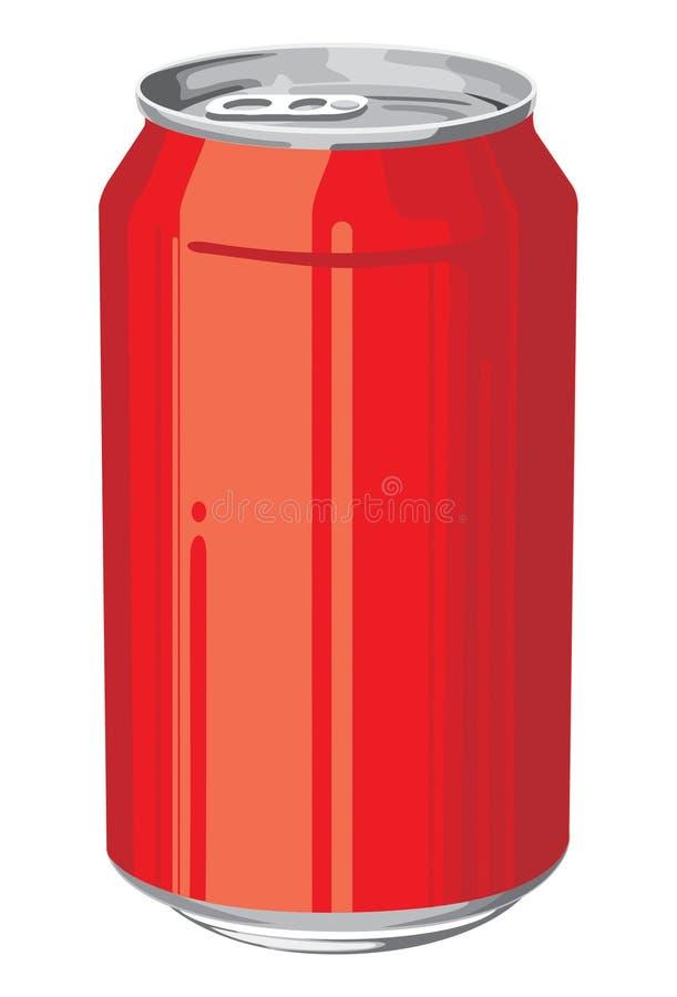 铝罐 向量例证