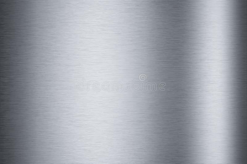铝背景掠过的纹理 库存图片