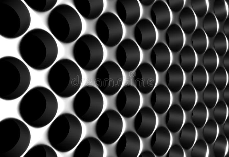 铝范围银 向量例证