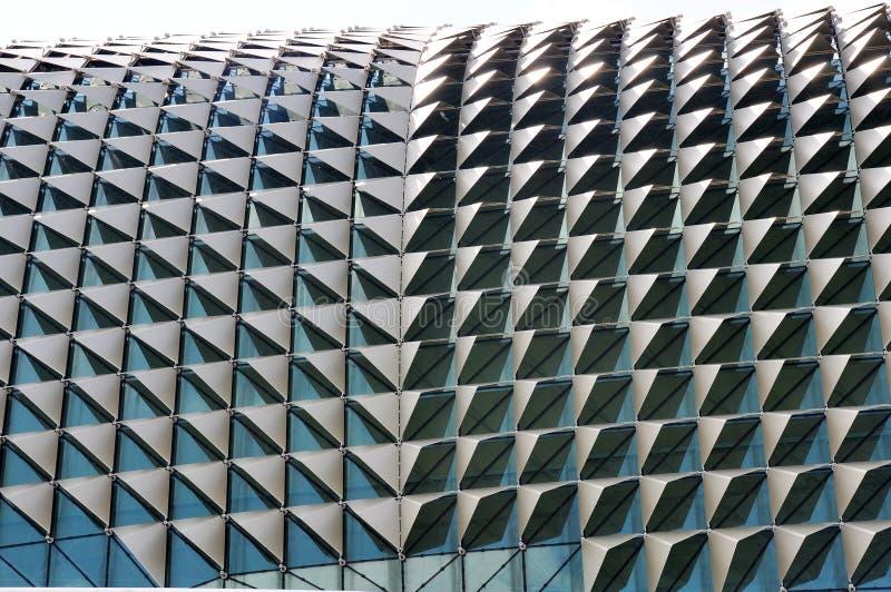铝遮光罩装饰广场, Singapor的屋顶 库存图片