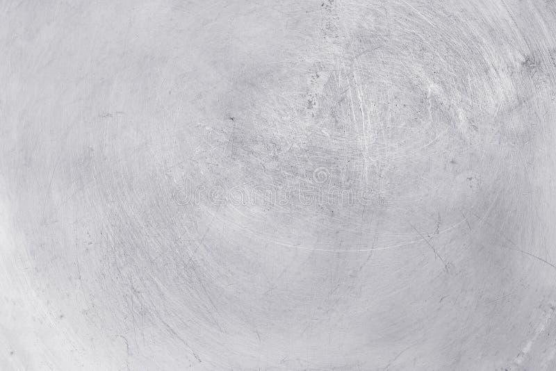 铝金属纹理背景,在优美的不锈钢的抓痕 免版税库存照片