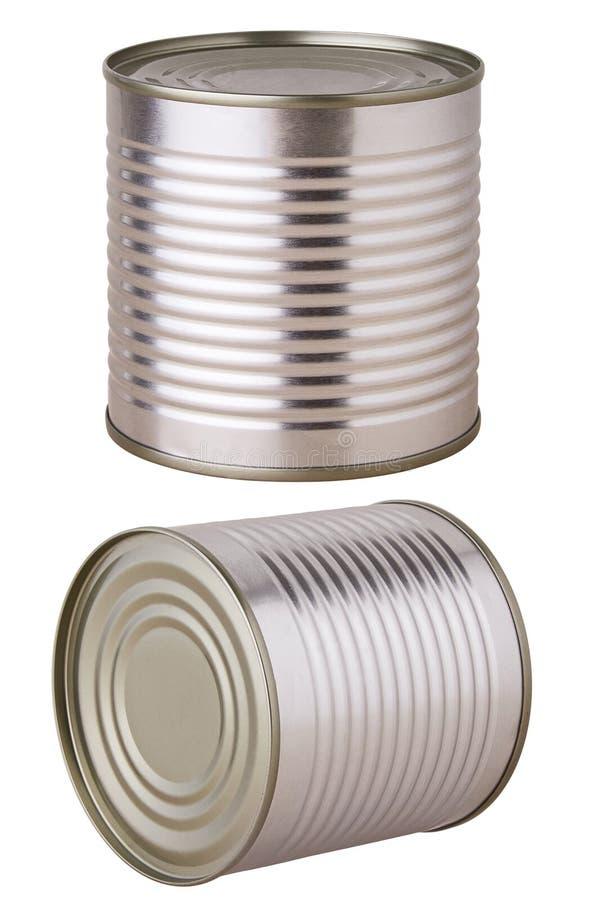 铝锡罐保存隔绝 免版税库存照片