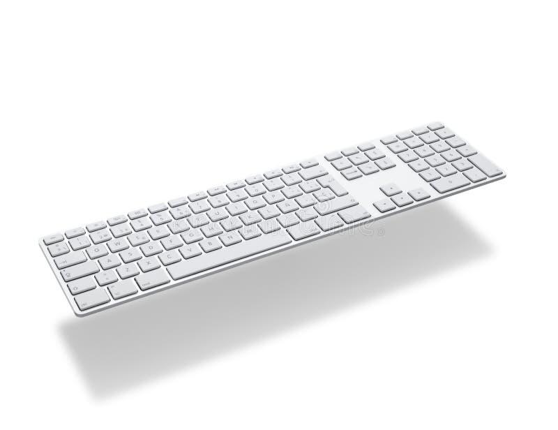 铝键盘漂浮 库存图片