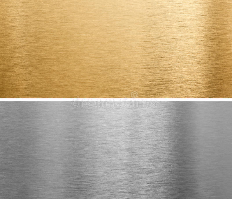 铝黄铜金属板 免版税库存图片