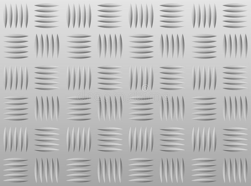 铝diamondplate 向量例证