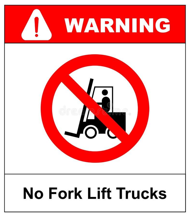 铲车没有符号卡车 红色在白色背景的被禁止的象孤立 Prohibit铲车的标志在这个区域 否 向量例证