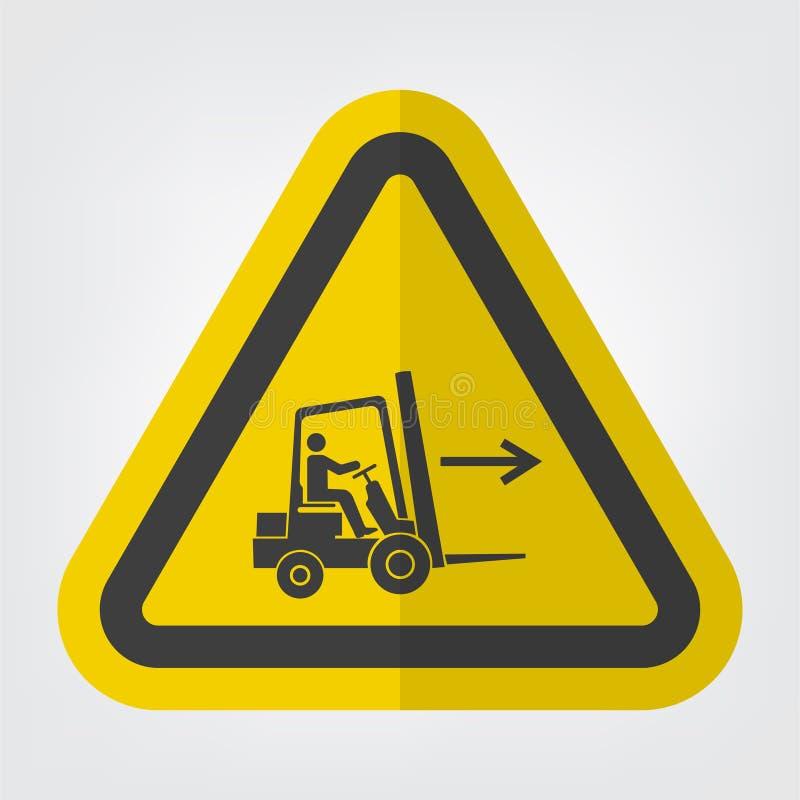 铲车点权利标志在白色背景,传染媒介例证EPS的标志孤立 10 皇族释放例证