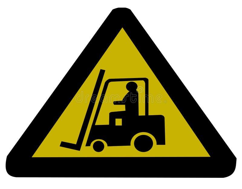 铲车符号卡车 皇族释放例证