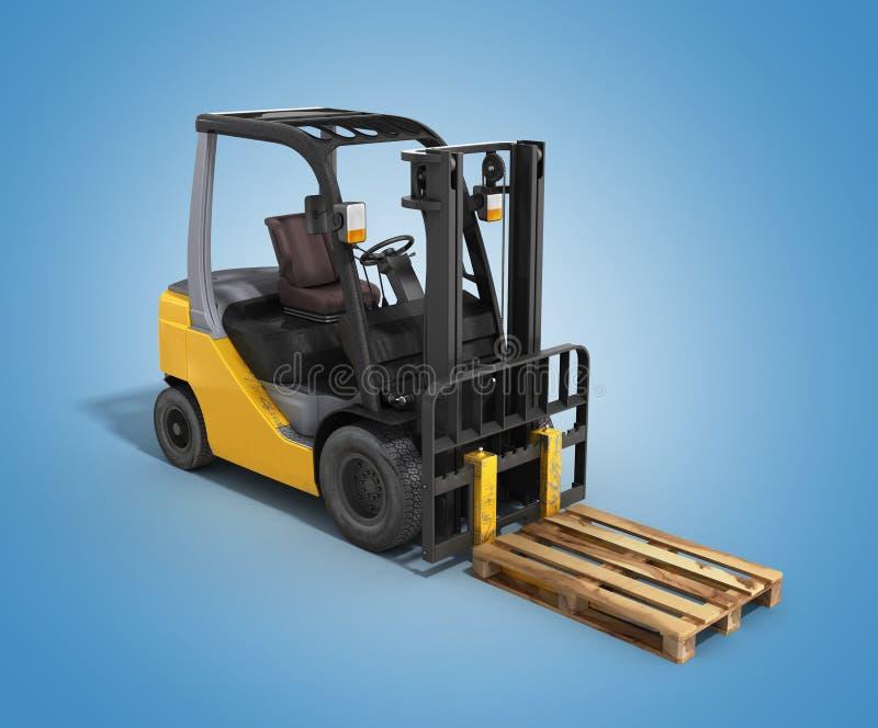 Download 铲车装载者在梯度3D的whith板台回报 库存例证. 插画 包括有 条板箱, 配电器, 挑选, 程序包, 货盘 - 72359787