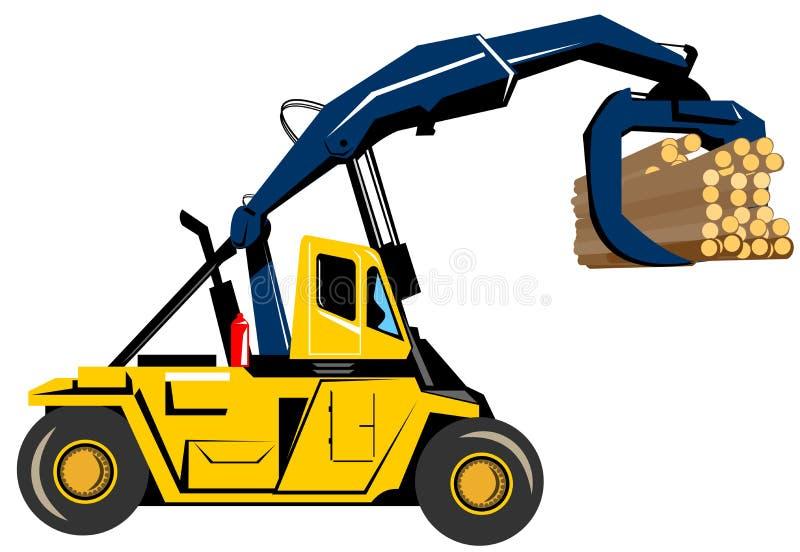 铲车装载 库存例证