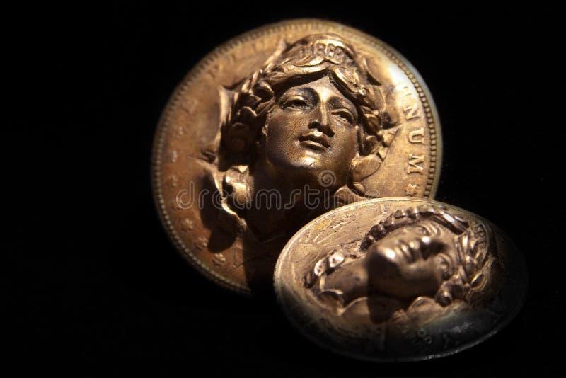 银元自由硬币   免版税库存图片
