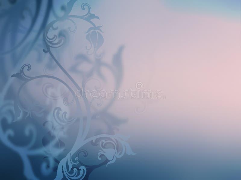 银和灰色花卉背景 皇族释放例证