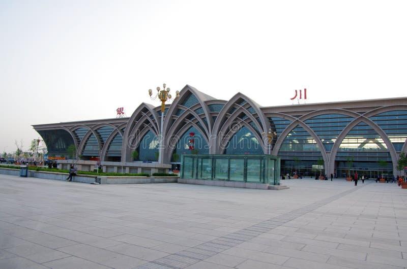 银川火车站 库存照片