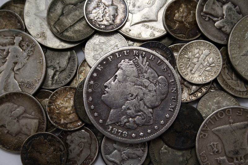 银币合金 库存图片