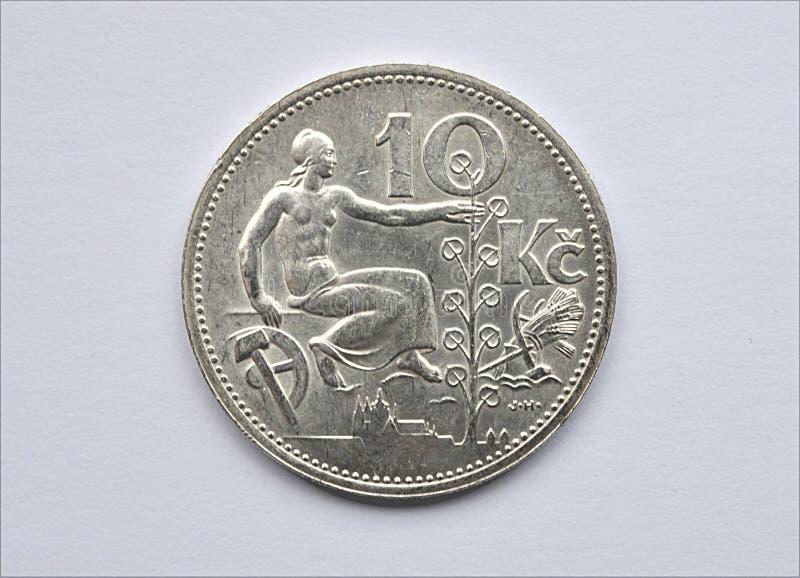银币,捷克斯洛伐克 库存照片