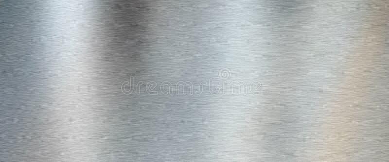 银掠过的金属纹理 免版税库存图片