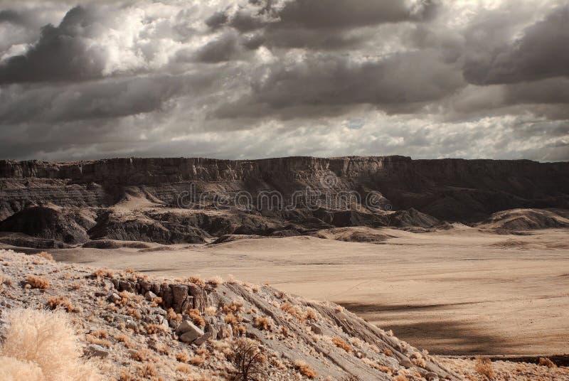 银朱的峭壁 库存图片