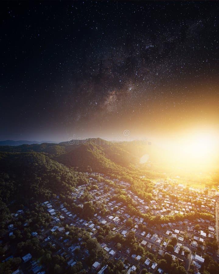 银河上升 库存图片