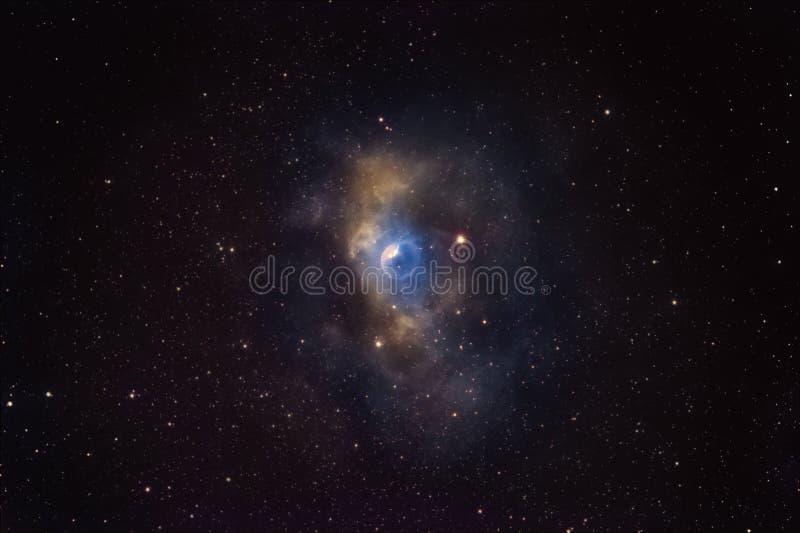 银河之美 NGC7635,仙后座气泡云 库存照片