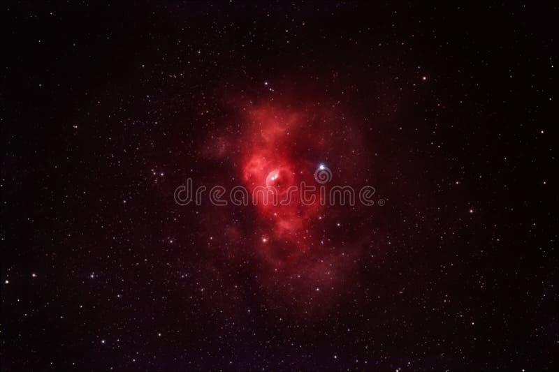 银河之美 NGC7635,仙后座气泡云 免版税库存图片