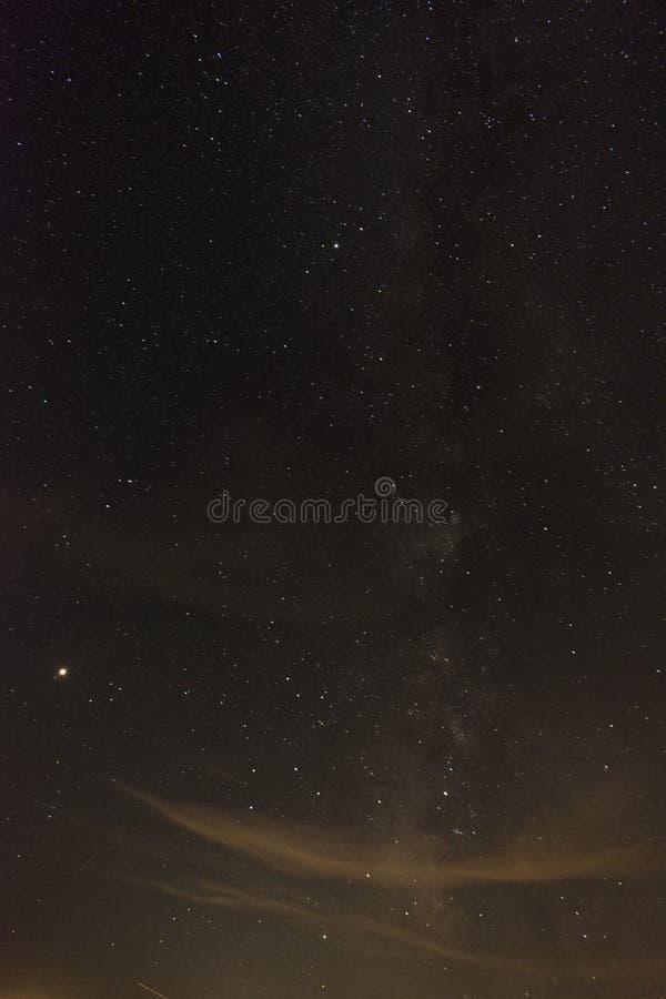 银河星系一个夏夜 免版税库存图片