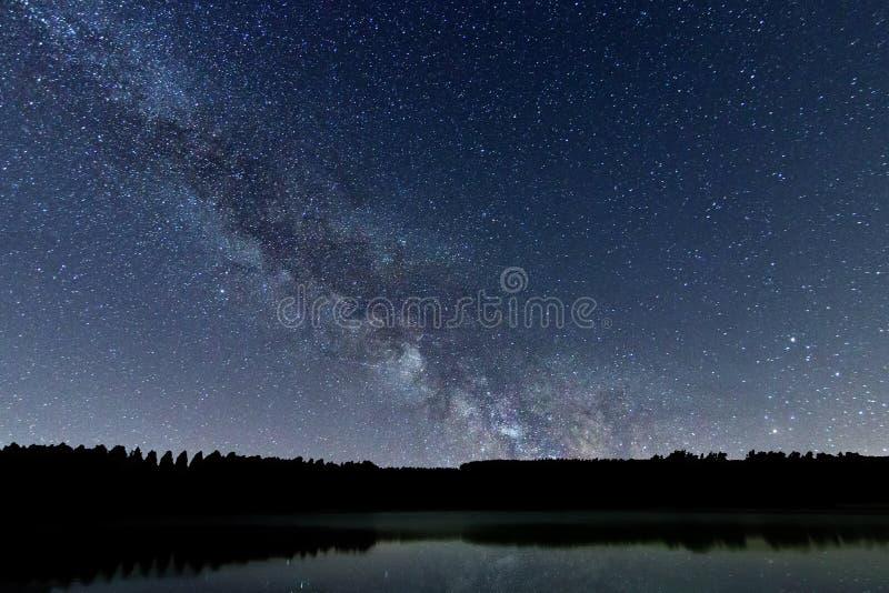 银河星系美丽的夜空 库存照片