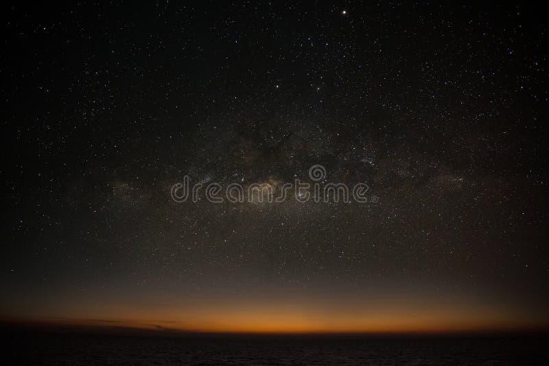 银河星系背景、夜空有银河背景,天文科学和美丽的银河星系,天文后面 库存图片