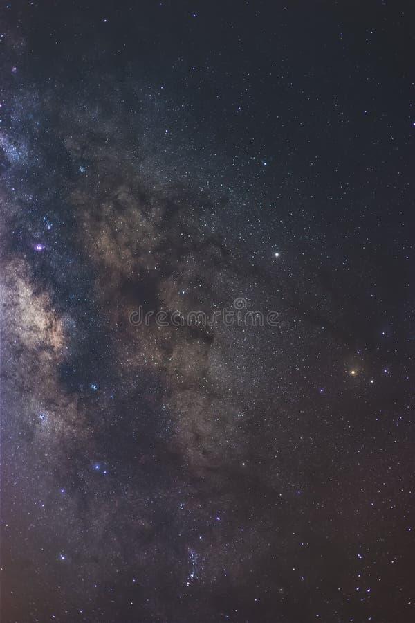 银河的中心,和尘土车道和Antares 库存照片