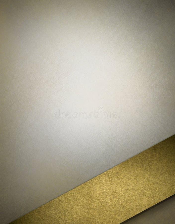 银灰色和金背景盖子 向量例证
