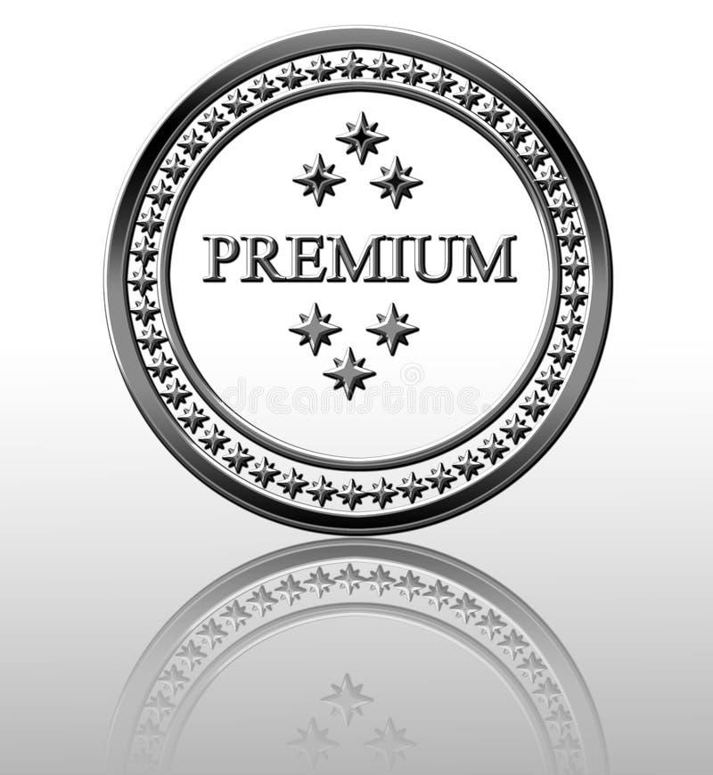 银色优质印花税 皇族释放例证