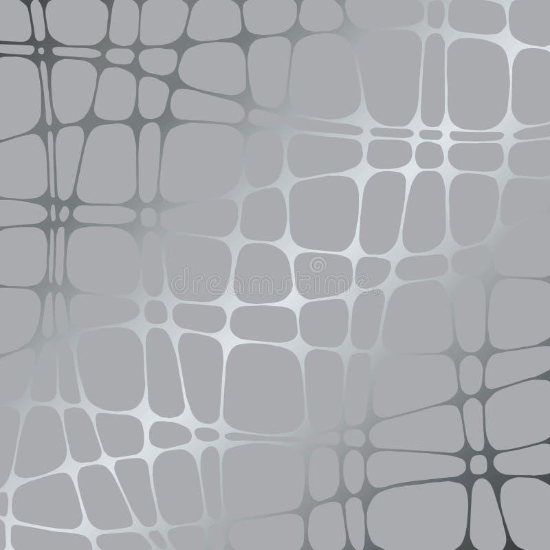 银色传染媒介背景 灰色抽象样式 库存例证