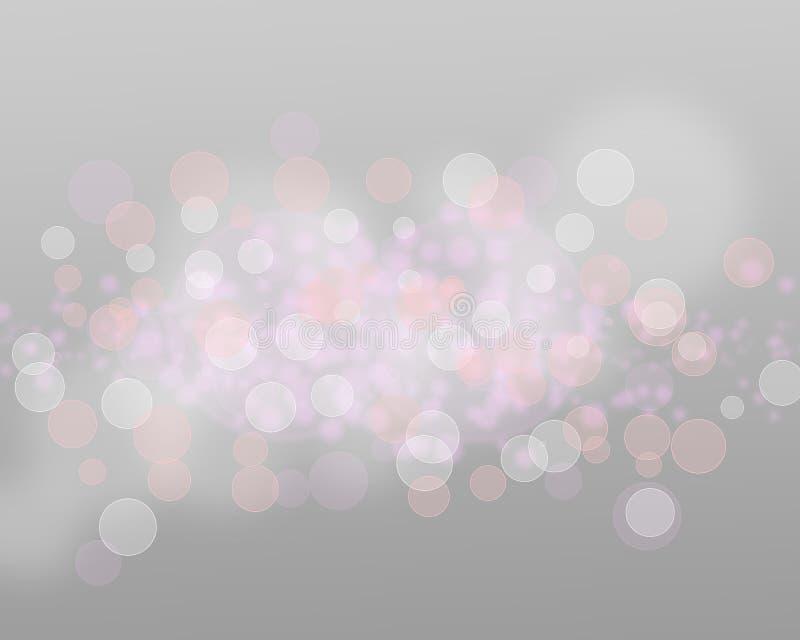 银色光和星在灰色背景摘要 免版税图库摄影