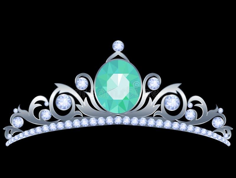 银色冠状头饰 皇族释放例证