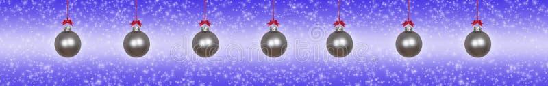 银色圣诞节中看不中用的物品 库存照片