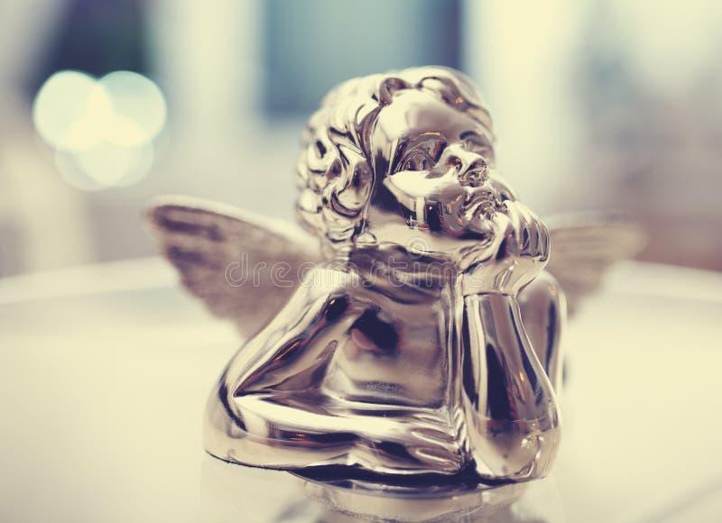 银色天使 库存图片