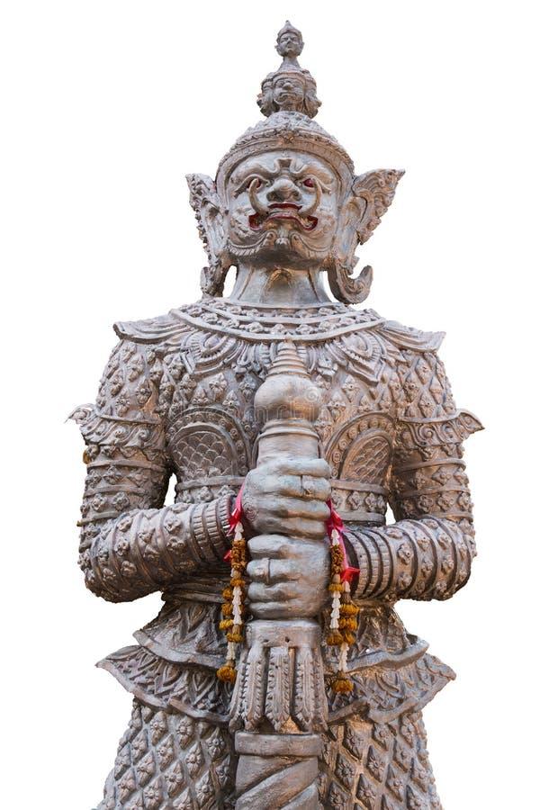 银色巨型雕象寺庙在Ubonratchathani泰国 图库摄影