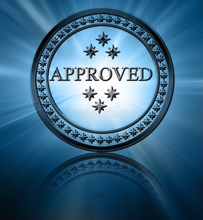 银色批准的印花税 库存例证