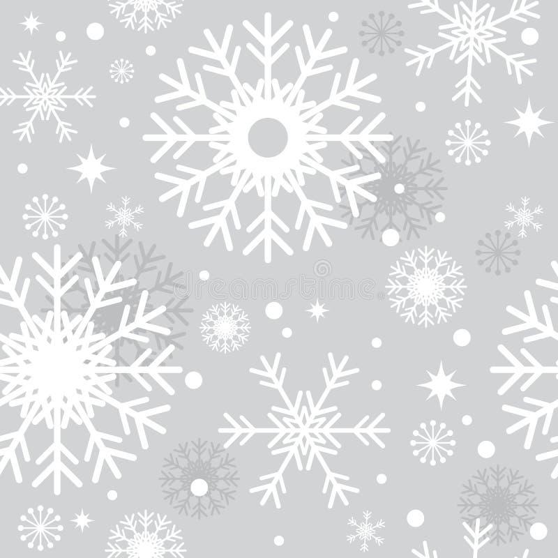 银色无缝的圣诞节样式 皇族释放例证