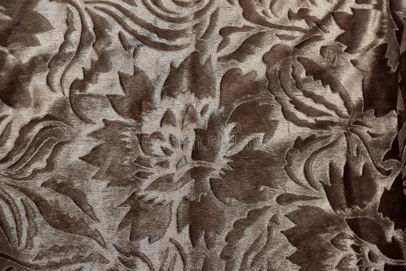 银色棕色背景,织品, 库存图片