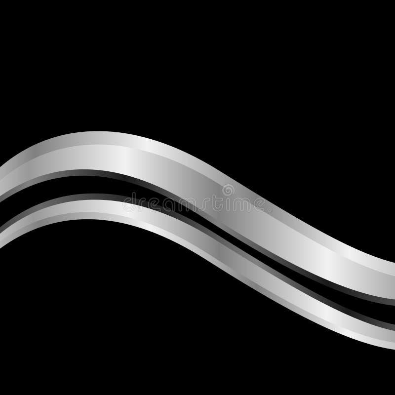 银色波浪背景 库存例证
