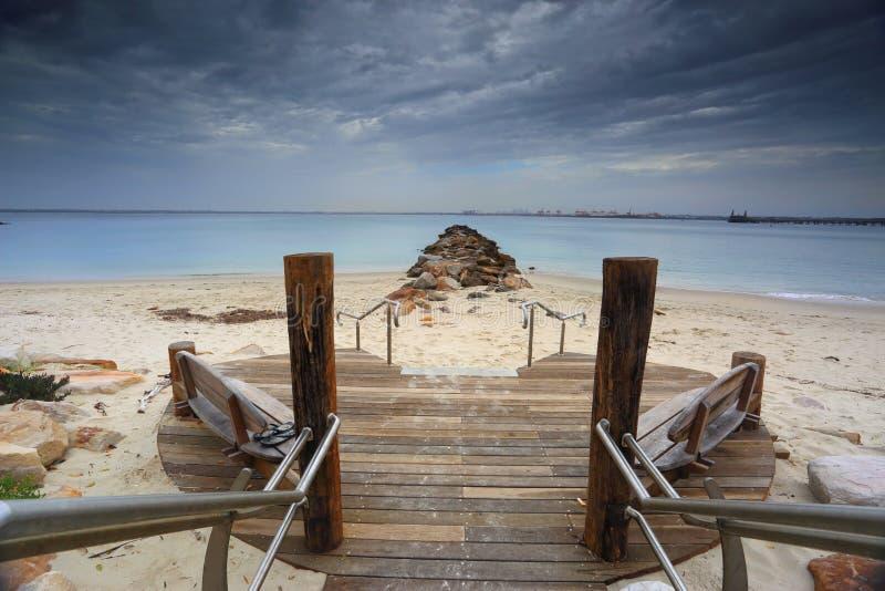 银色海滩, Kurnell,悉尼澳大利亚 免版税库存图片