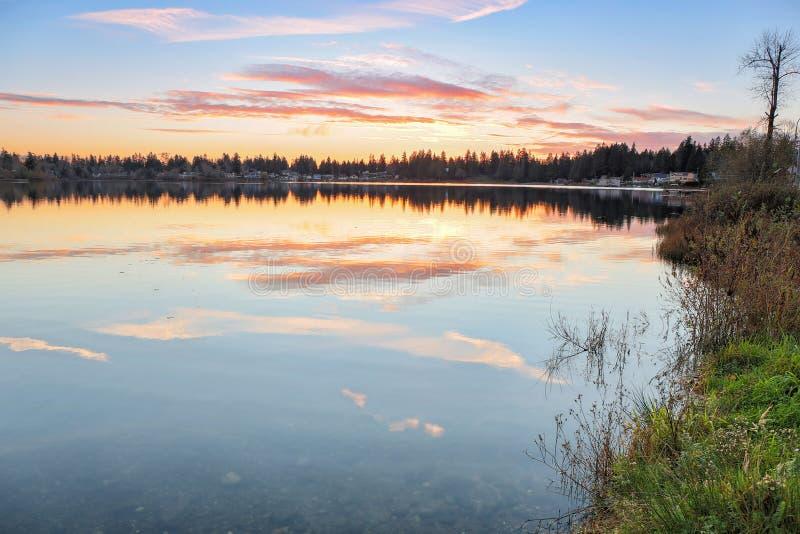 银色湖 免版税库存照片
